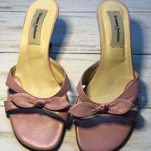 Gruppo Italiano Pink Kitten Heel Sandals